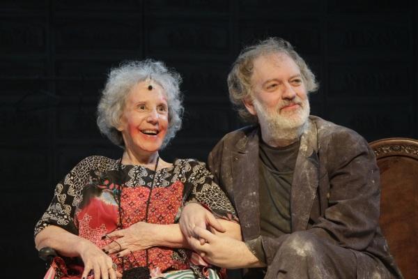 Maria Alice Vergueiro e Luciano Chirolli em Why the Horse? - Foto: Sidnei Martins