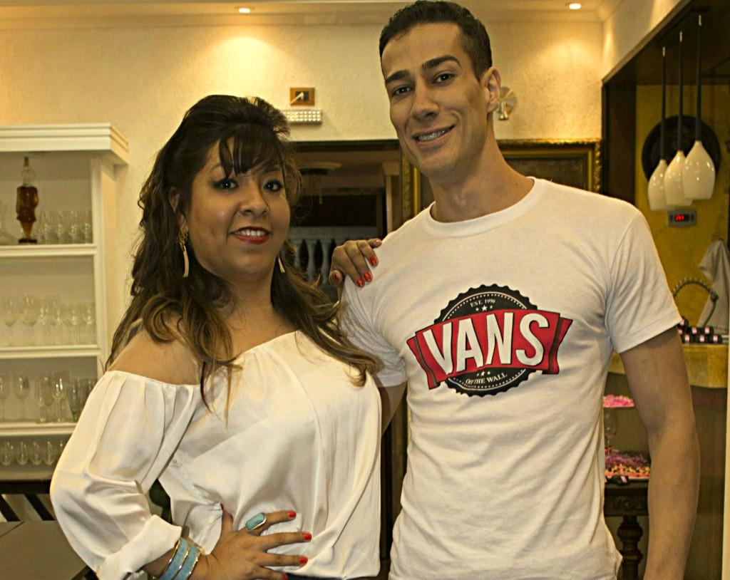 Mabel Zeballos com o DJ e produtor Rafael Lelis - Foto: Divulgação