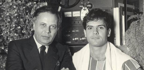 João Araújo com o filho único Cazuza - Foto: Sociedade Viva Cazuza