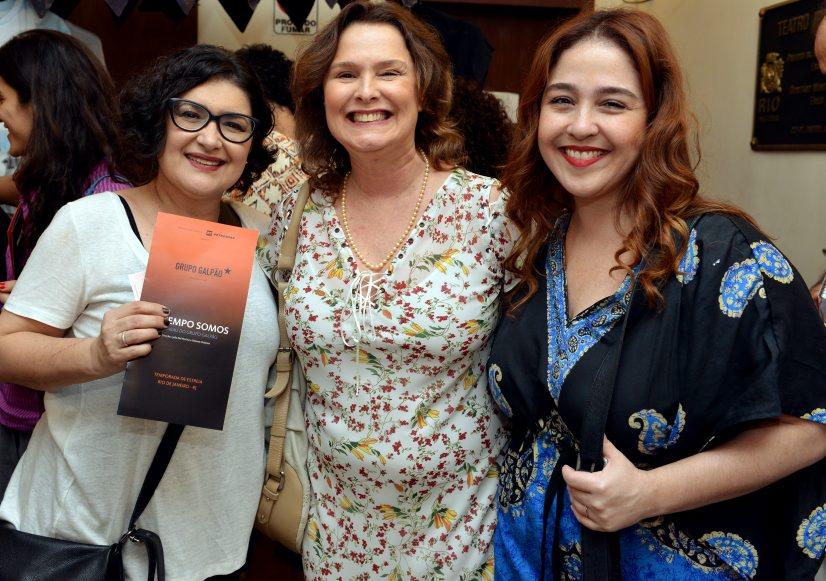 Inês Vianna, Louise Cardoso e Débora Lamm - Foto: Cristina Granato