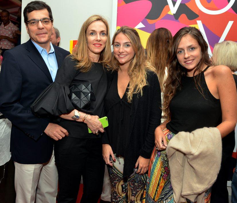 Ali Kamel, Patrícia Kogut, Alice Kogut e Sofia Kogut - Foto: Cristina Granato
