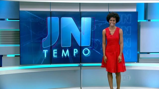 Maria Julia Coutinho no Jornal Nacional: negros em destaque na TV ainda são raros - Foto: Divulgação/Globo