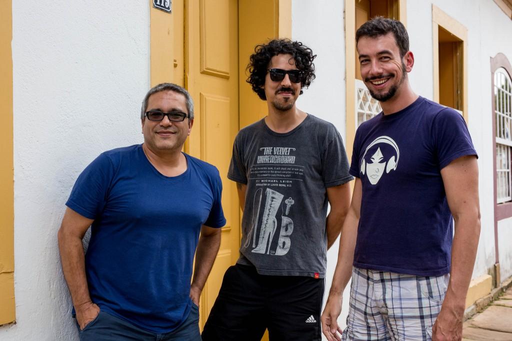 Os curadores Cleber Eduardo, Francis Vogner e Pedro Maciel - Foto: Leo Lara/Universo Produção/Divulgação