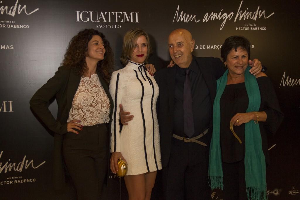 Gilda Nomacce, Daniela Galli, Hector Babenco e Denise Weinberg, todas atrizes de Meu Amigo Hindu - Foto: Divulgação