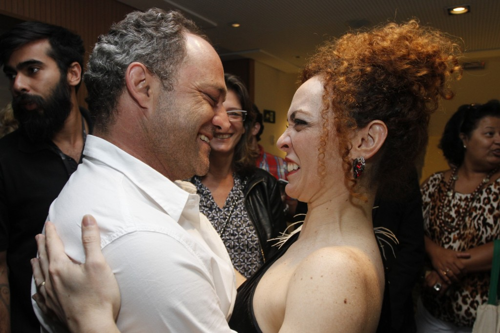 O ator Eucir de Souza e Laila Garin - Foto: Paduardo/Phábrica de Imagens/Divulgação