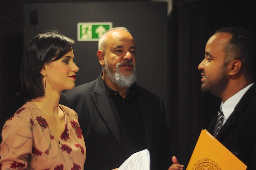 Mel Lisboa conversa com Miguel Arcanjo Prado - Foto: Bob Sousa