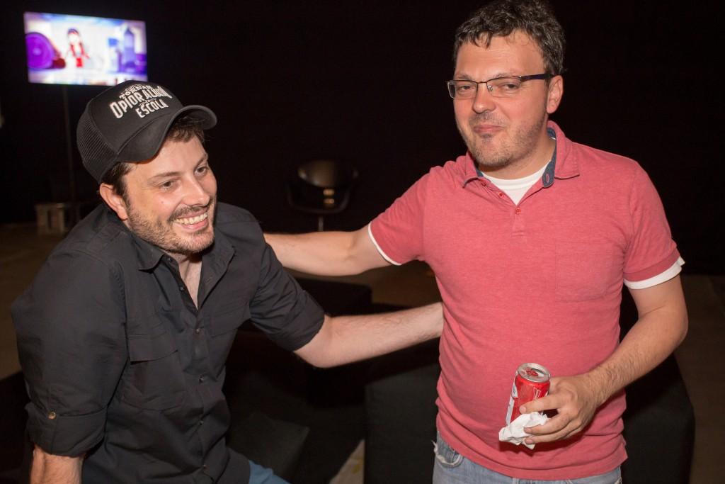 Danilo Gentili e Leandro Knopfholz, diretor do Festival de Teatro de Curitiba - Foto: Nilton Russo/Clix