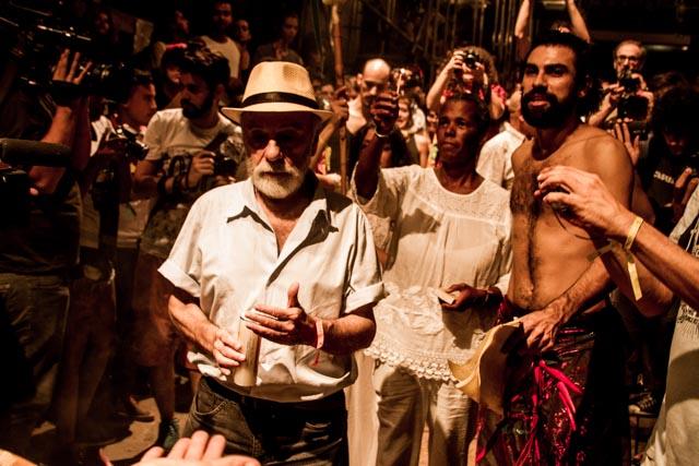 O ator Renato Borghi no Ato Cultura pela Democracia no Teat(r)o Oficina, em São Paulo - 4/4/2016 - Foto: Jennifer Glass/Fotos do Ofício/Divulgação