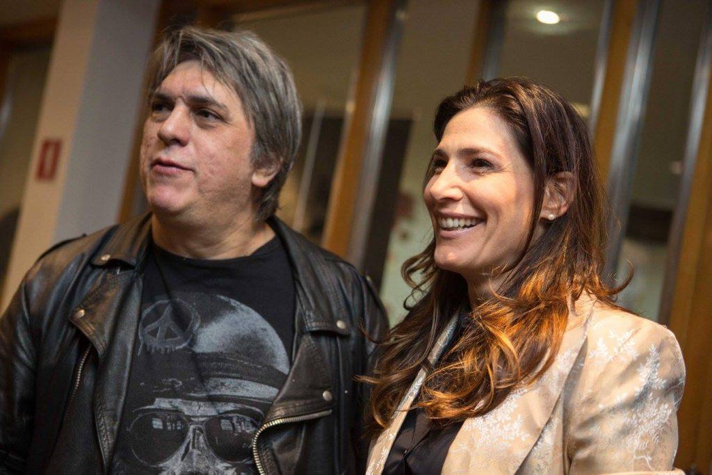 Mário Bortolotto, ator de Ralé, e a atriz Virginia Cavendish prestigiaram a sessão - Foto: Aline Arruda/Divulgação