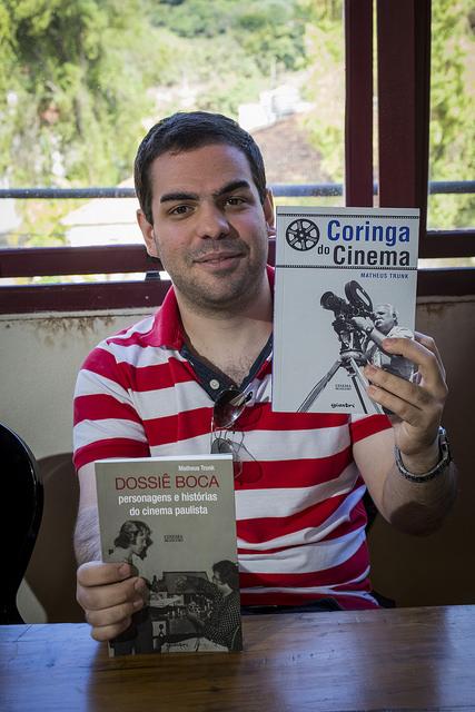 Matheus Trunk, que lançou o livro O Coringa do Cinema e Dossiê Boca - Foto: Leo Lara/Universo Produção