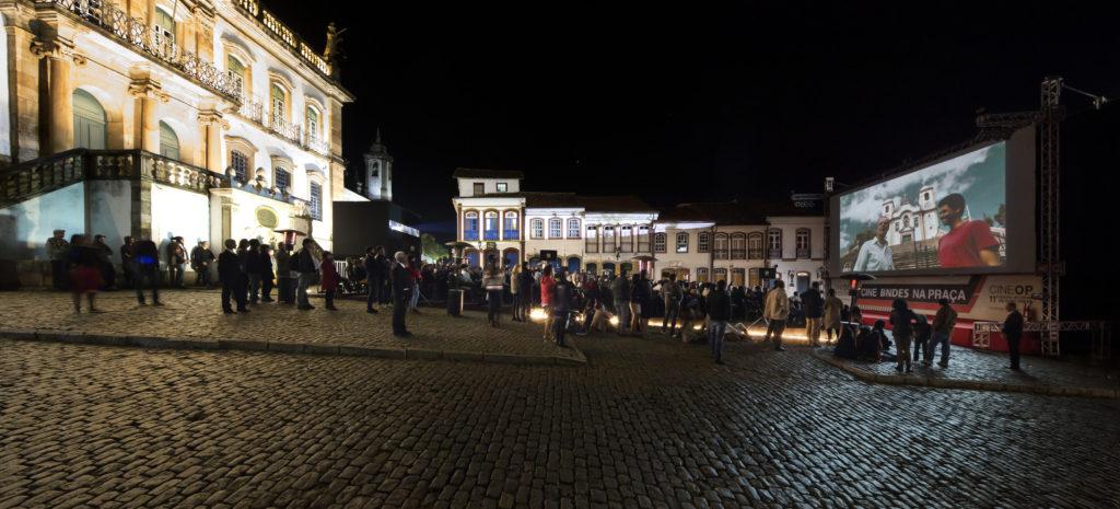 Cine BNDES na Praça Tiradentes - Foto: Leo Lara/Universo Produção