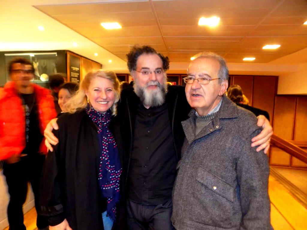 Rafaela Puopolo, Helio Cicero e Mustafá Yazbek  - Foto: Eliane Verbena
