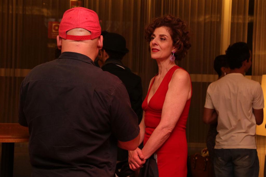 A atriz Cristiane Tricerri durante o coquetel - Foto: Patricia Nagano/Divulgação