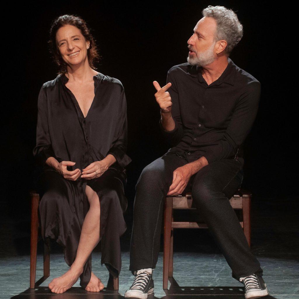 Os atores Clarice Niskier e Isio Ghelman na peça Coração de Campanha - Fotos: Dalton Valério/Divulgação - Blog do Arcanjo