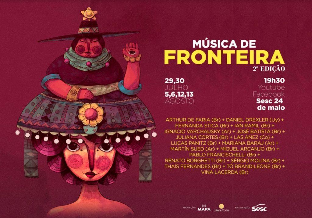 Música de Fronteira tem cartaz com arte de LanLan Bessoni - Foto: Divulgação - Blog do Arcanjo